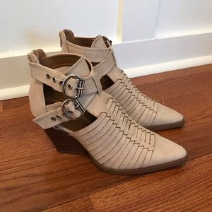Sand colored booties (size 5.5)
